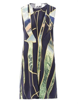 Breakthrough-moments print silk dress