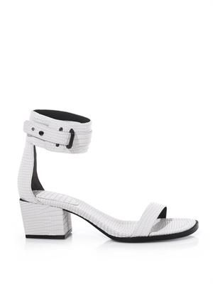 Coco embossed-leather sandals