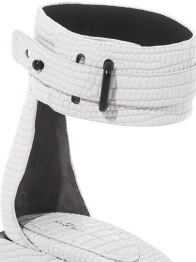 3.1 Phillip Lim Coco embossed-leather sandals