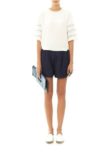 3.1 Phillip Lim Embellished sculpted silk top