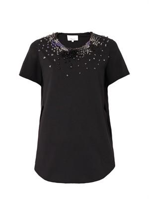 Cascade Rave embellished T-shirt
