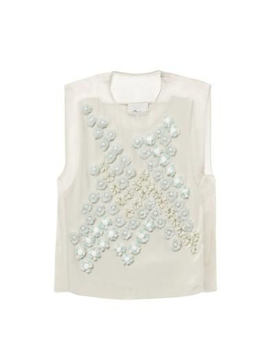 3.1 Phillip Lim Dandelion embellished silk top