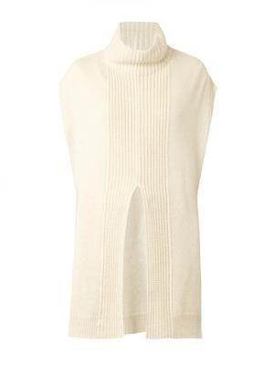 High-neck alpaca-blend tunic