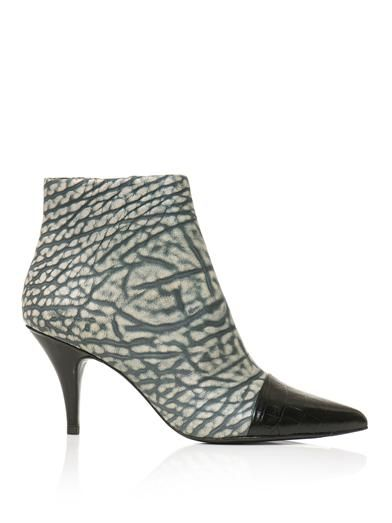 3.1 Phillip Lim Maggie embossed capped-toe ankle boots