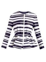 Space dye stripe jacket