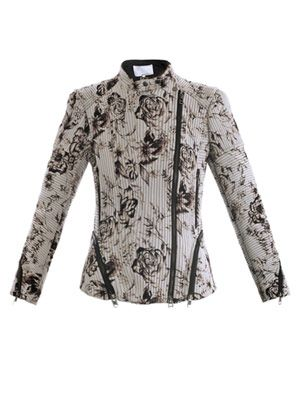 Antique-floral corded jacket