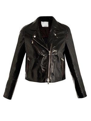 Double layer leather jacket
