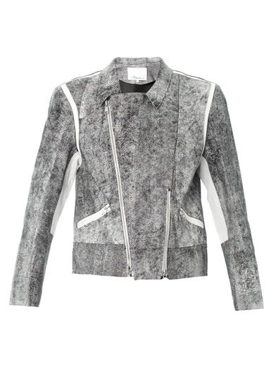 3.1 Phillip Lim Cracked-leather jacket