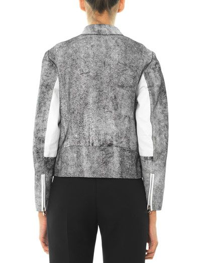 3.1 Phillip Lim Cracked-leather jacket