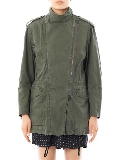 3.1 Phillip Lim Fur lined cotton parka jacket