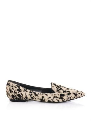 Page point-toe calf-hair flats