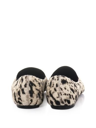 3.1 Phillip Lim Page point-toe calf-hair flats