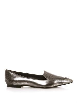 Page point-toe leather loafers