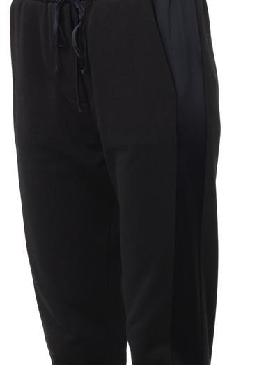 3.1 Phillip Lim Satin-trimmed cotton track pants