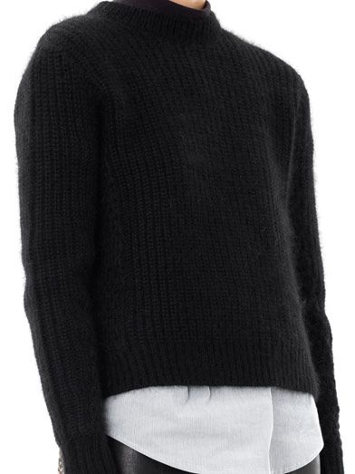 3.1 Phillip Lim Angora ribbed knit sweater
