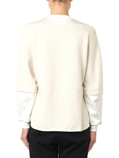 3.1 Phillip Lim Satin-panel cotton-jersey sweatshirt