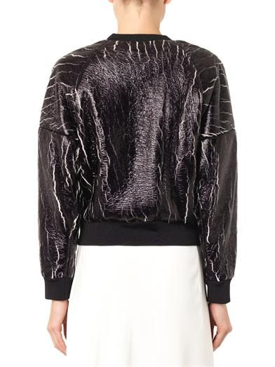 3.1 Phillip Lim Crackle-coated sweatshirt