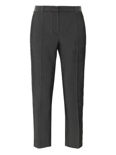 3.1 Phillip Lim Stripe-jacquard cropped pencil pant