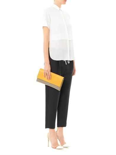 3.1 Phillip Lim Polka-dot silk-cotton cropped trousers