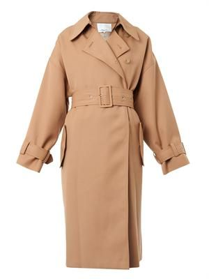 Oversized wool trench coat