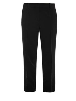 Cropped pencil trousers