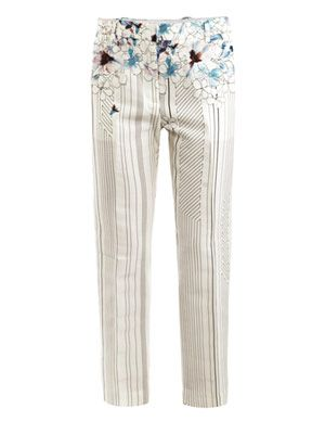 Watercolour floral trousers