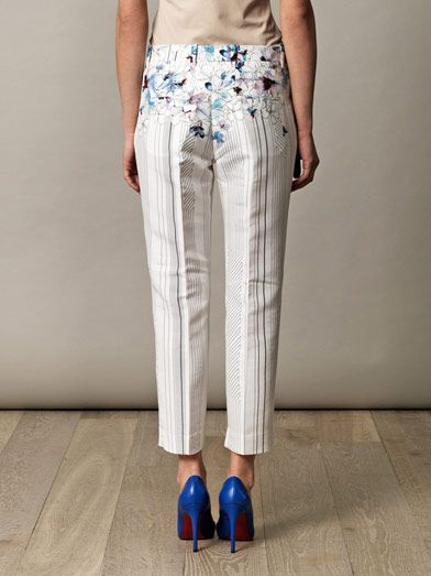 3.1 Phillip Lim Watercolour floral trousers