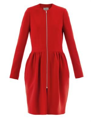 Robyn crepe dress coat