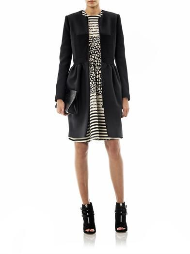 Preen Dayton crepe dress coat