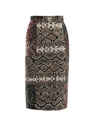 Sahara print pencil skirt