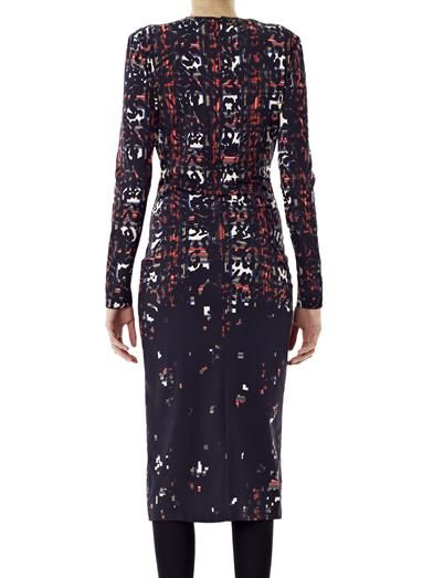 Preen by Thornton Bregazzi Vi tartan leopard jersey dress