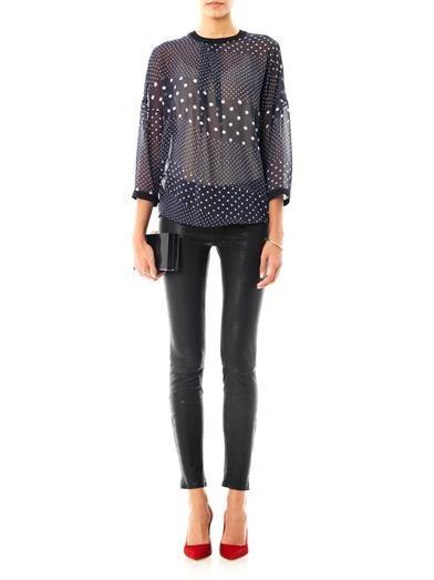 Preen by Thornton Bregazzi Leto-print georgette blouse