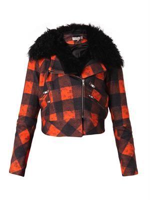 Ritchie shearling-trimmed biker jacket