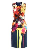 Splash bloom-print dress