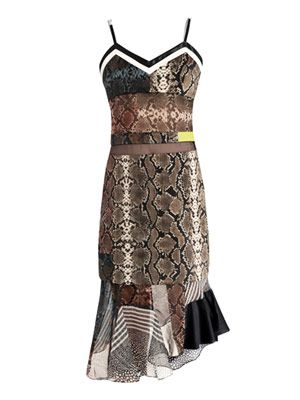 Anje python-print georgette dress
