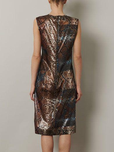 Preen by Thornton Bregazzi Snakeshell print sleeveless dress