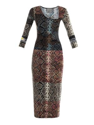 Kelly python-print dress