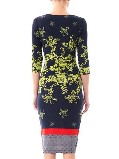 Preen Dusk citrus flower jersey dress