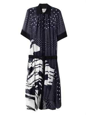 Fallon-print georgette dress