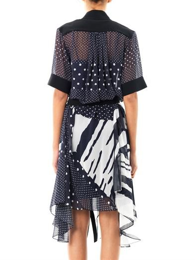 Preen Fallon-print georgette dress
