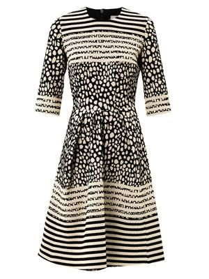 Prim Dalmatian-spot jacquard dress