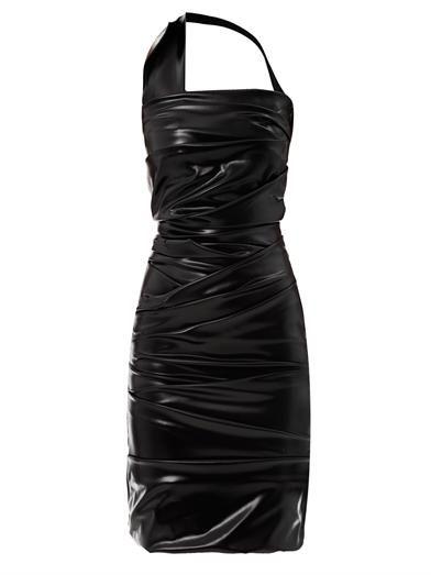 Preen by Thornton Bregazzi Wet ripple halterneck dress