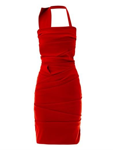 Preen Ripple halter-neck dress
