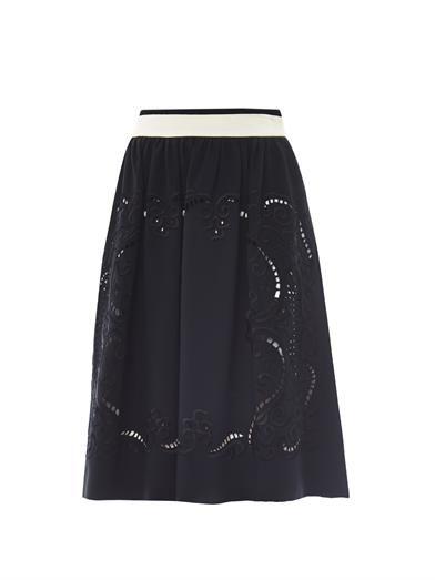 Preen by Thornton Bregazzi Talon embroidered crepe skirt
