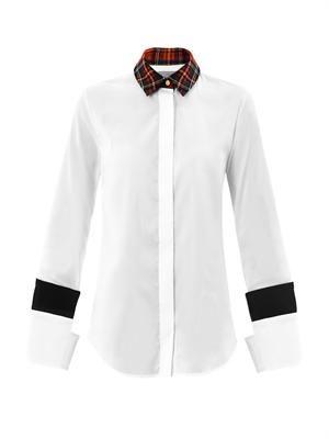 Bo tartan collar shirt
