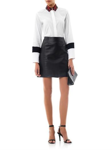 Preen by Thornton Bregazzi Bo tartan collar shirt