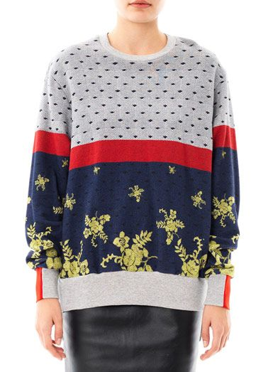 Preen by Thornton Bregazzi Colour-block multi-print sweatshirt