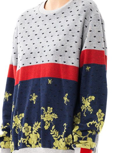Preen by Thornton Bregazzi Colour-block multi-print sweatshirt