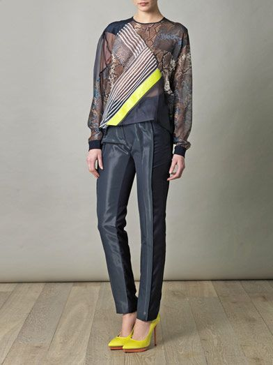 Preen by Thornton Bregazzi Flag printed python top