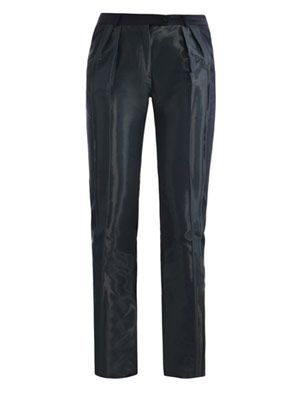 Fold coated panel trousers